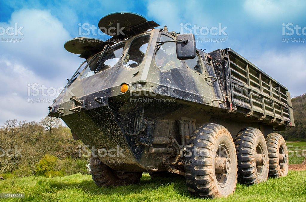 Military Machine Alvis Stalwart stock photo
