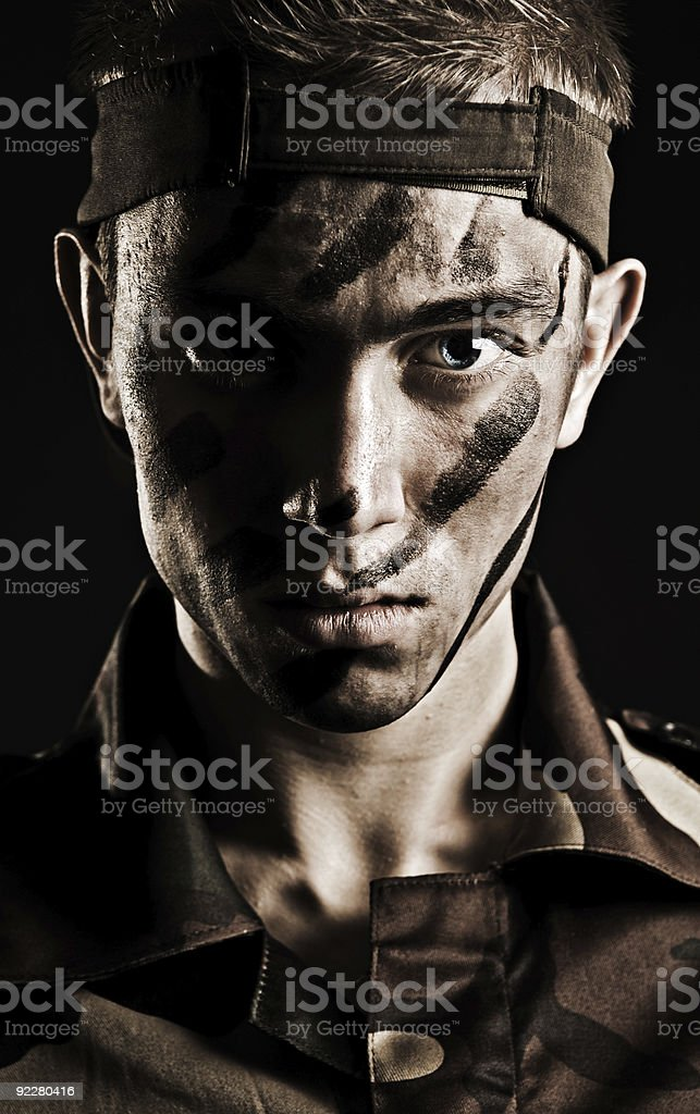 military man royalty-free stock photo