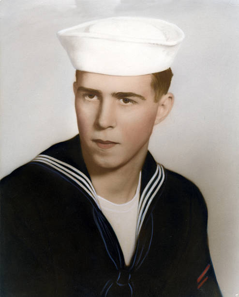 Military man   View images from same session Navy soldier of 1957. sailor stock pictures, royalty-free photos & images