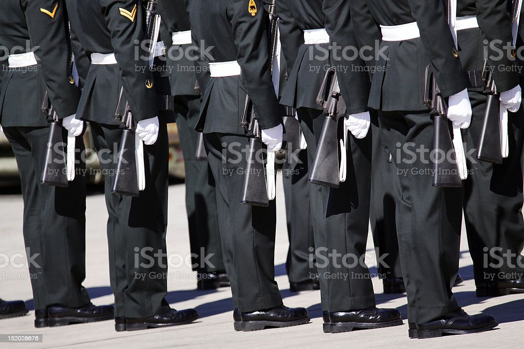 Military march stock photo