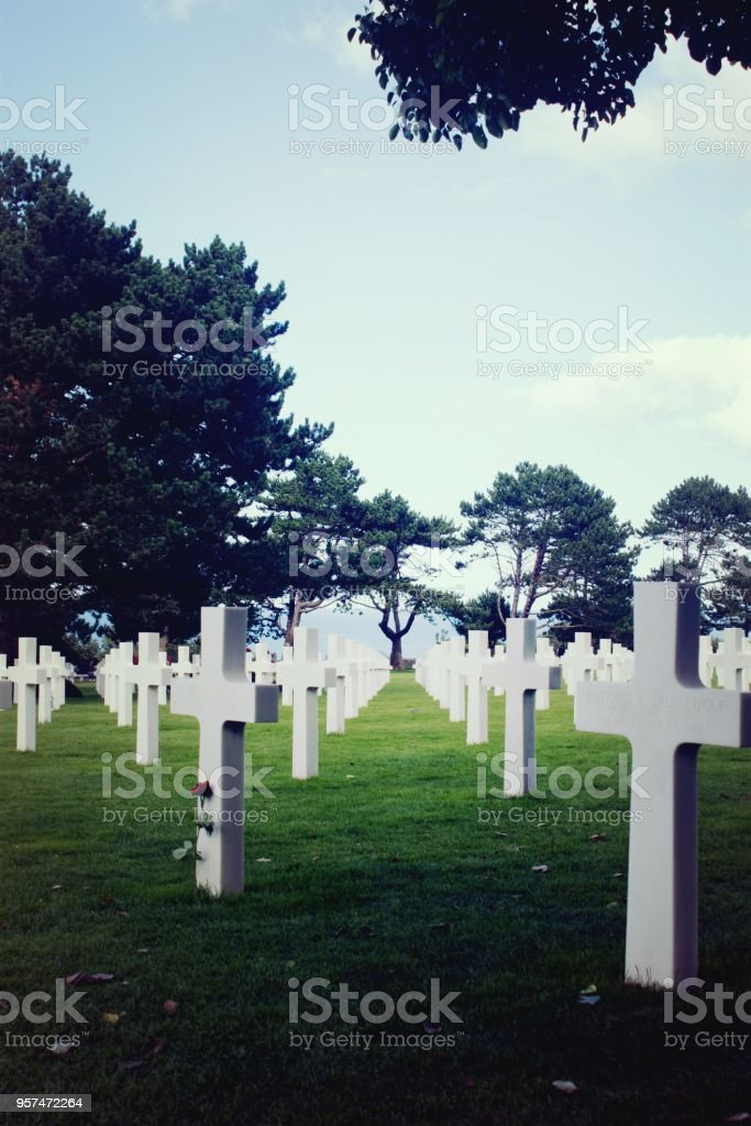 Military memory normandie stock photo