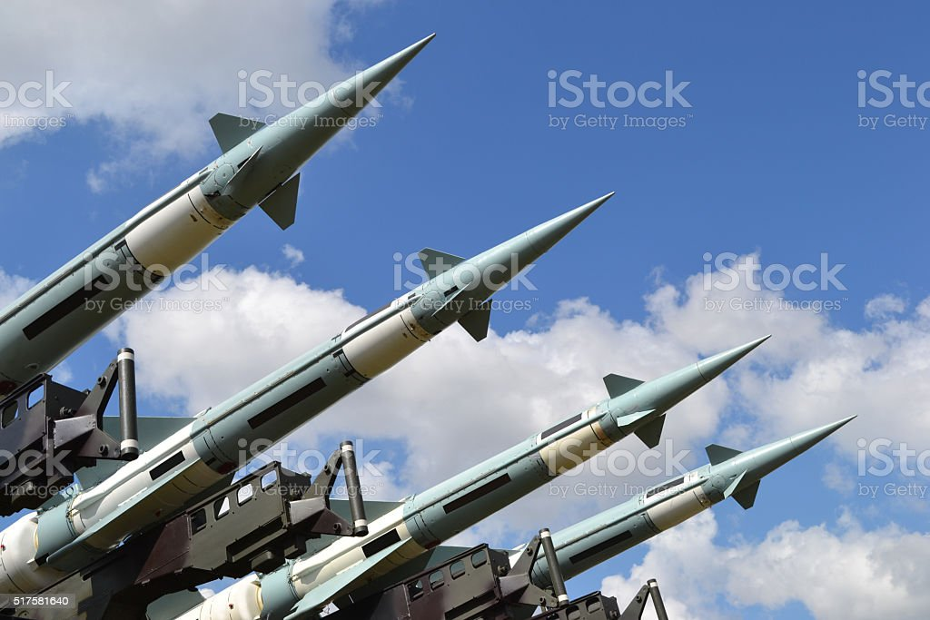 Military missiles stock photo