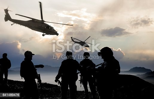 istock Military Mission at dusk 641489476