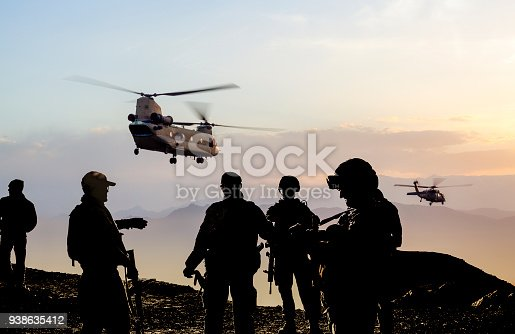 istock Military Mission at dusk 938635412