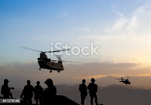 Military Mission at dusk