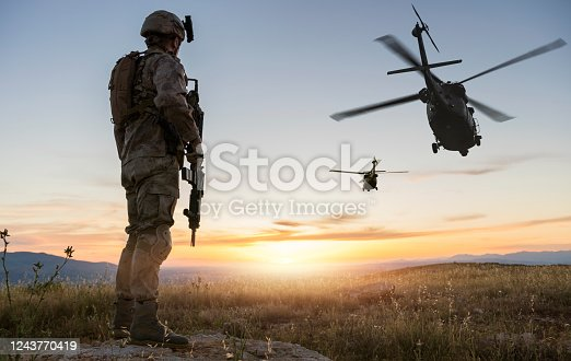 Military Mission at sunrise