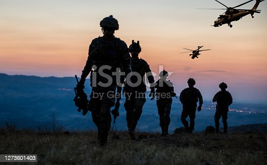 Military Mission at twilight