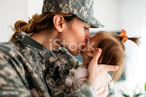 istock Military Mom is back home. 520775470