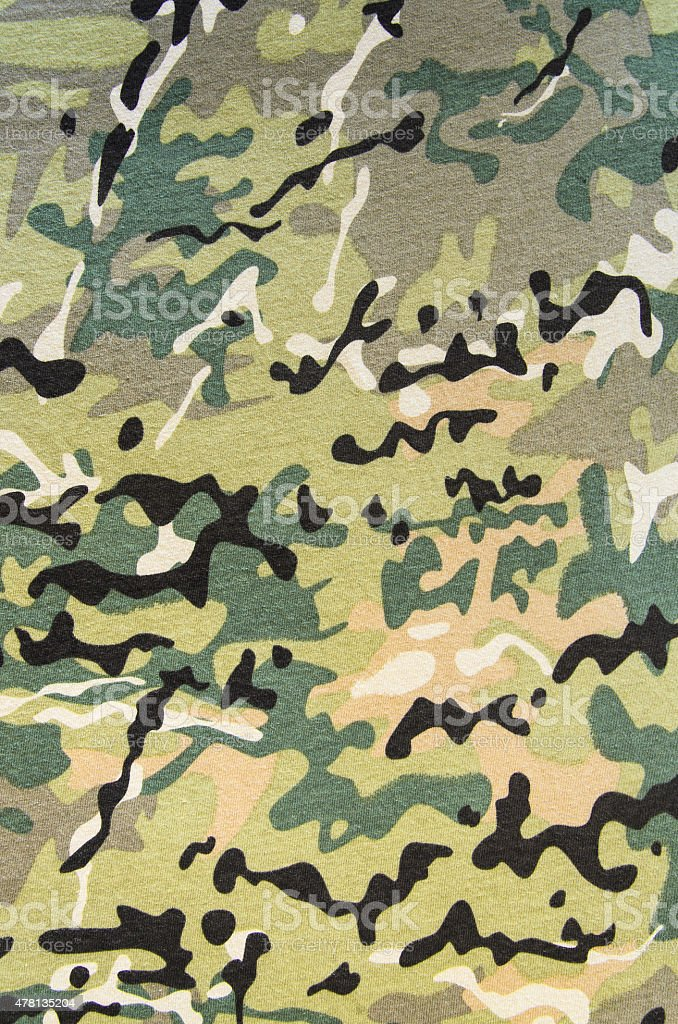Military Multicam Camouflage Fabric Texture Vertical