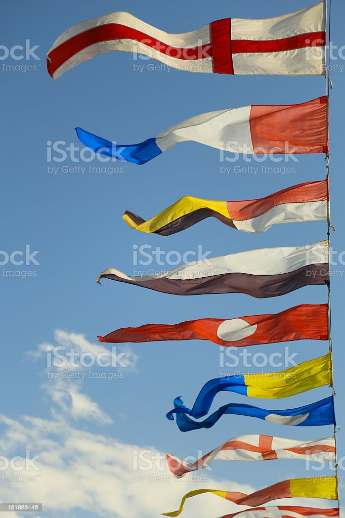military naval flags royalty-free stock photo