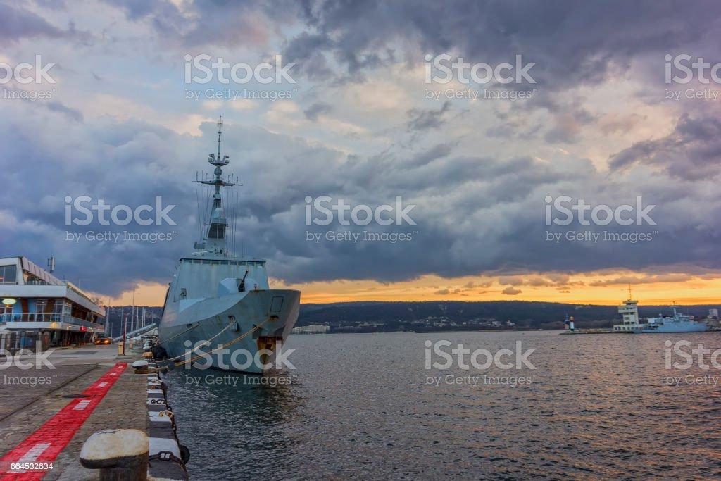 Military navy ship royalty-free stock photo