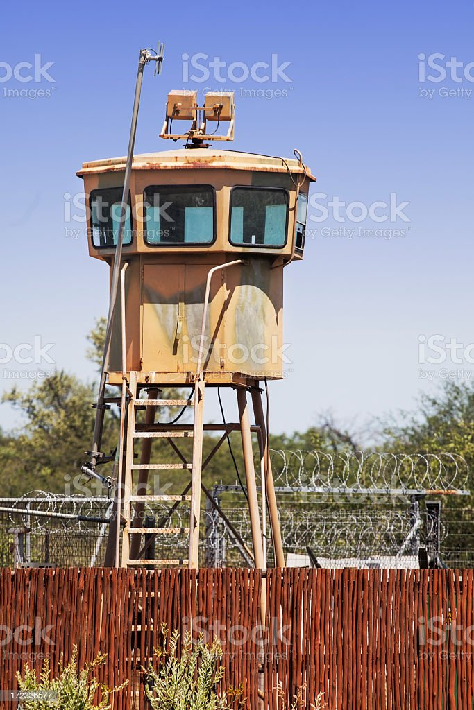 Military observation cabin stock photo