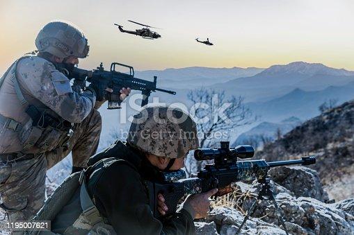 Military Operation at sunrise