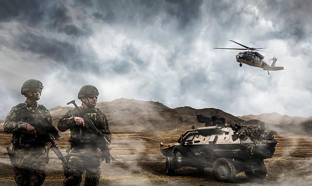 군용동물에는 작동방식 - 전쟁터 뉴스 사진 이미지