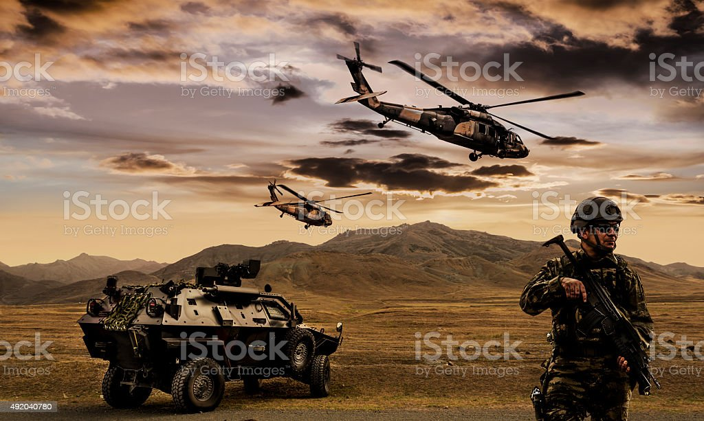 Military Operation stock photo