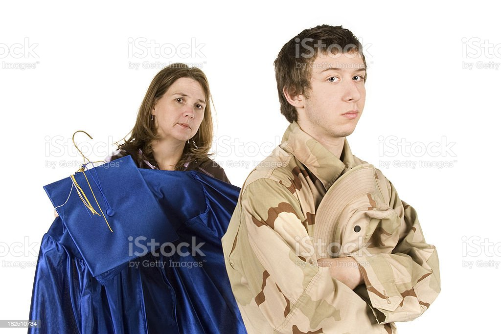 Military or High School (series) royalty-free stock photo
