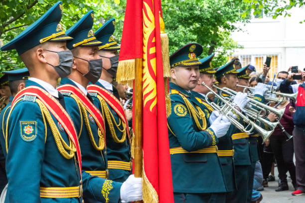 (Editorial) Military orchestra performance stock photo