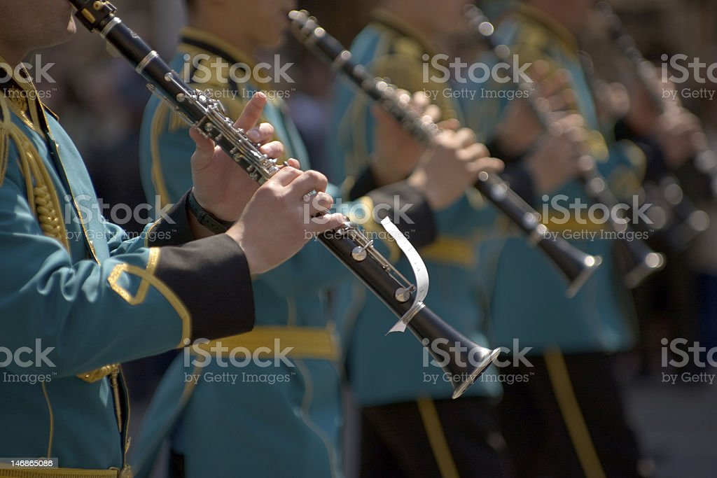 Military orchestra stock photo