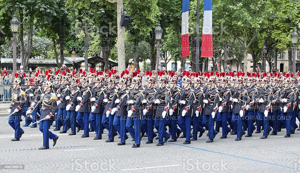 Military  parade in Bastille Day stock photo