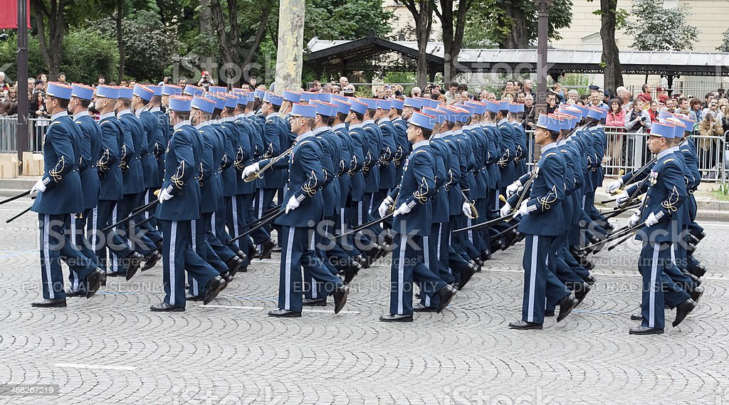 Military  parade in Bastille Day royalty-free stock photo
