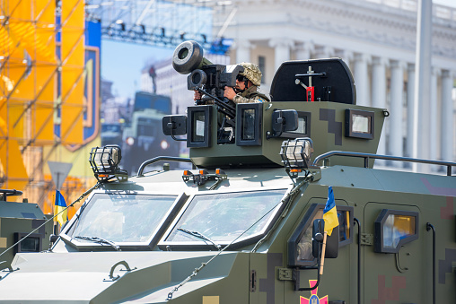 istock Military parade in Kiev, Ukraine 1071480076