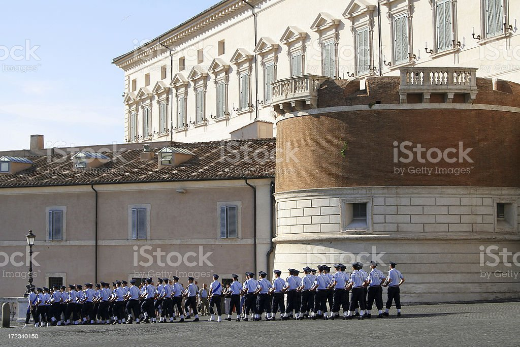 Military parade in Rome royalty-free stock photo