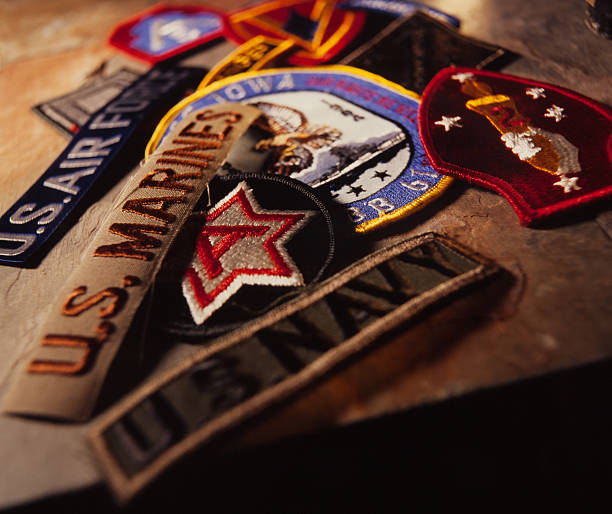 military patches - marines stock photos and pictures