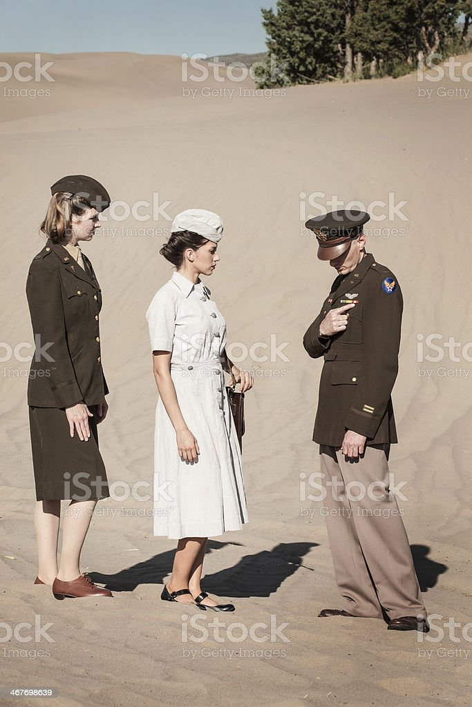 WWII Military Personnel stock photo