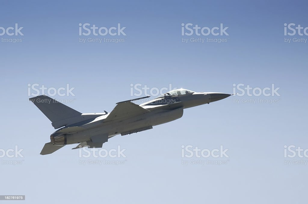Military Plane F-16 royalty-free stock photo
