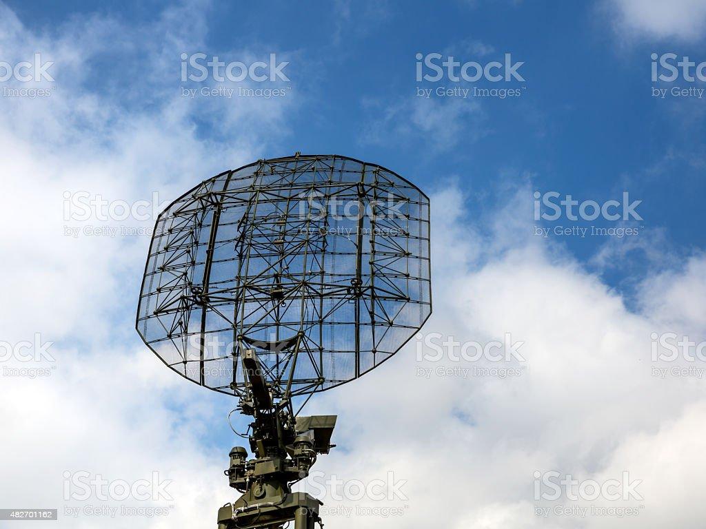 Military radio locator station stock photo