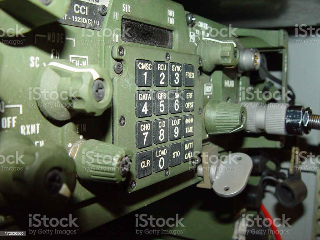 Military Radio royalty-free stock photo