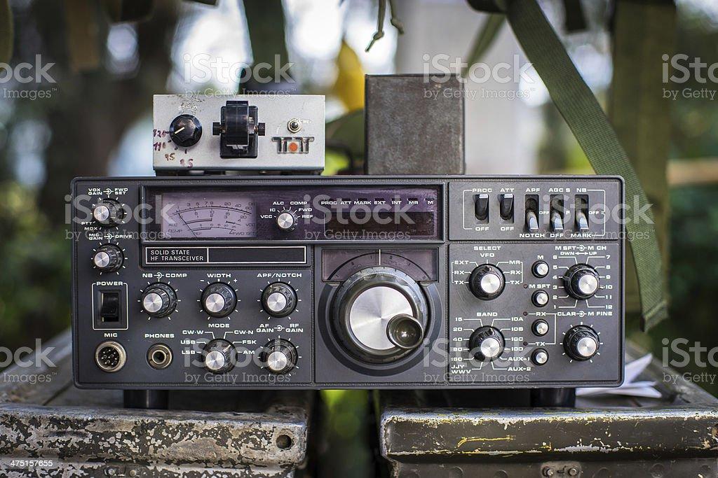 Rádio militar - foto de acervo