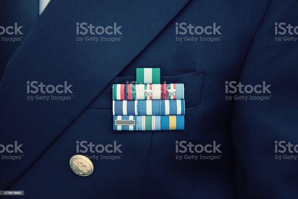 Military ranks stock photo
