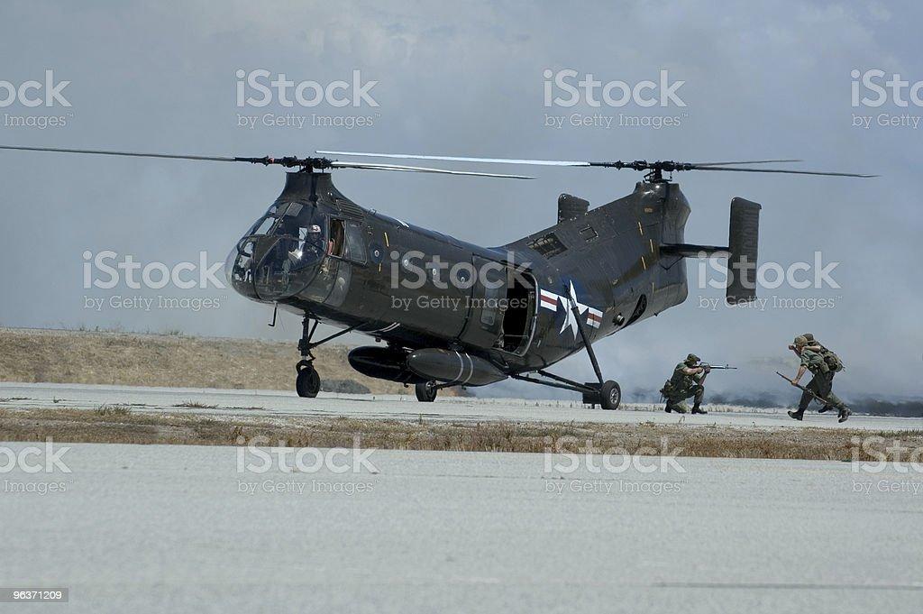 Military Rescue Exercise royalty-free stock photo