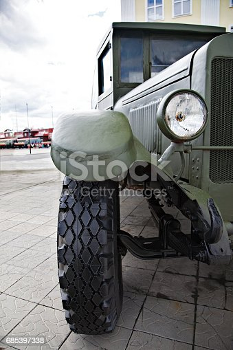 istock Military retro car 685397338