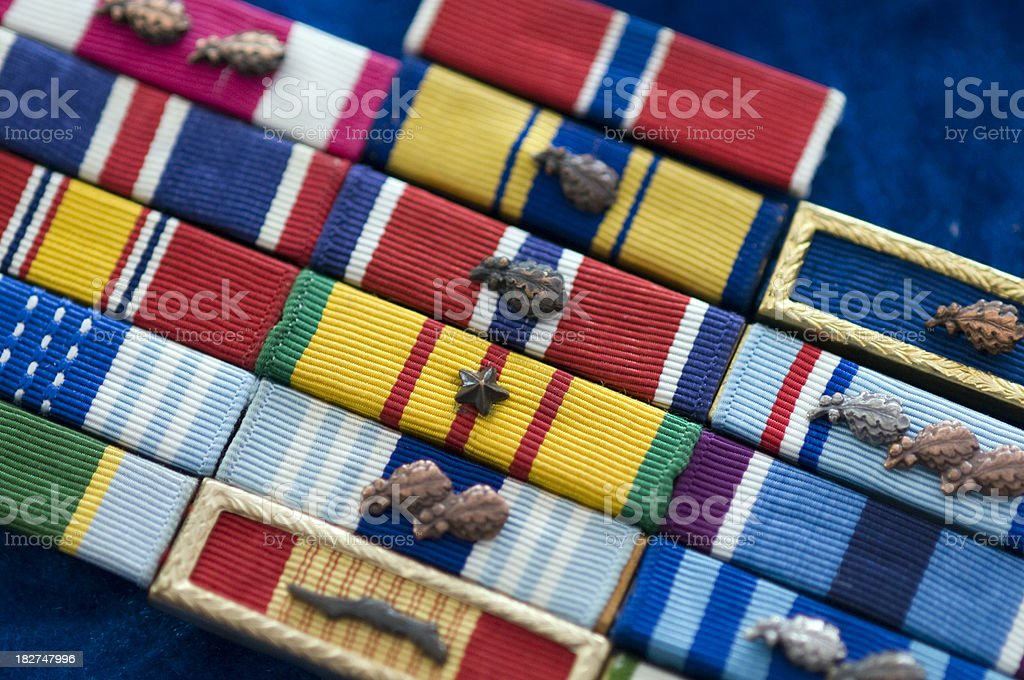 Military Ribbons stock photo
