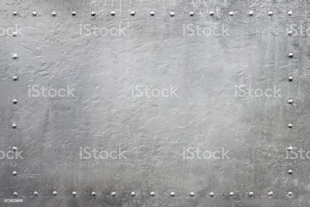 military riveted metal plate 4 stock photo