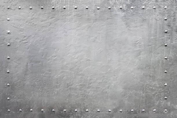 placa de metal rebitada militar 4 - foto de acervo
