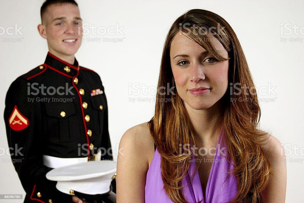 military romance royalty-free stock photo
