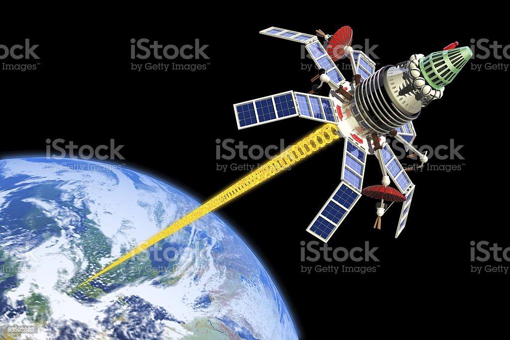 Military satellite royalty-free stock photo