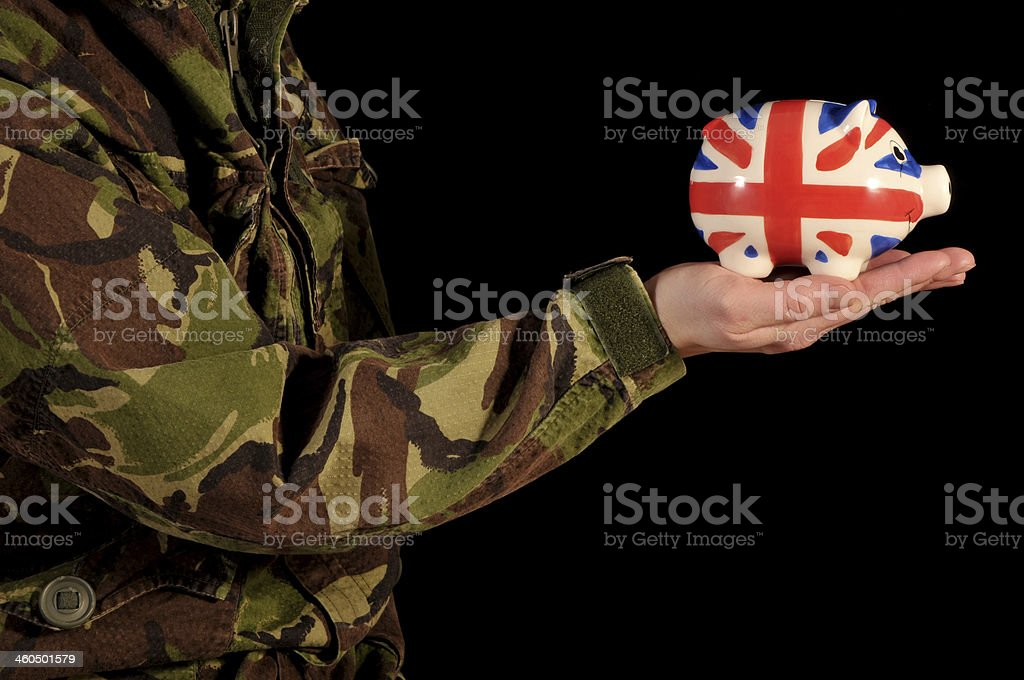 Military Savings stock photo