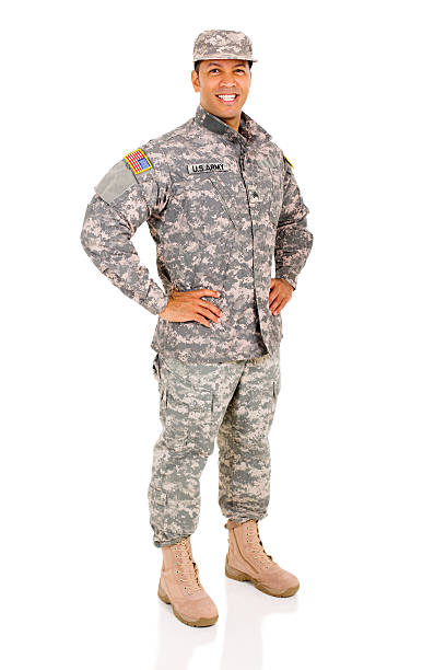 military serviceman posing happy military serviceman posing isolated on white sergeant stock pictures, royalty-free photos & images