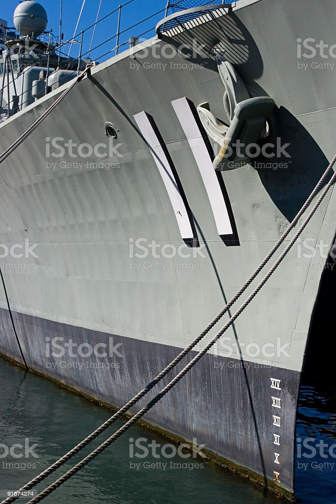 Military ship royalty-free stock photo