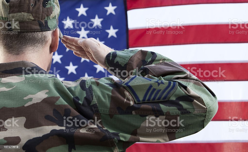 US Military Soldier royalty-free stock photo