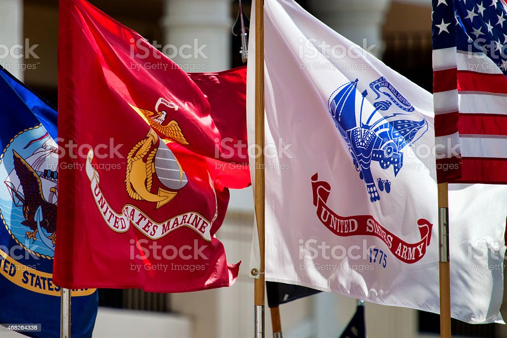 Military Standards stock photo