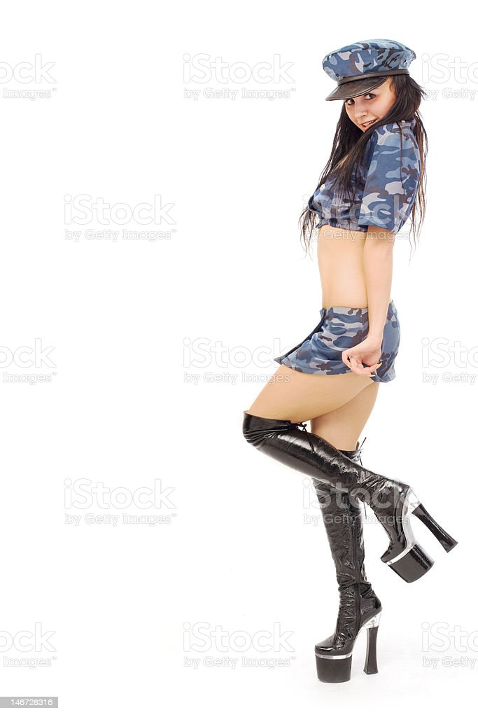 military stripper stock photo