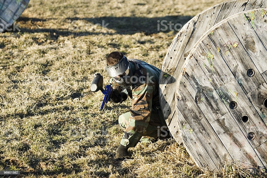 Military Tactics in Paintball royalty-free stock photo