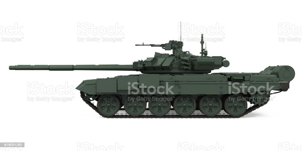 Military Tank Isolated stock photo