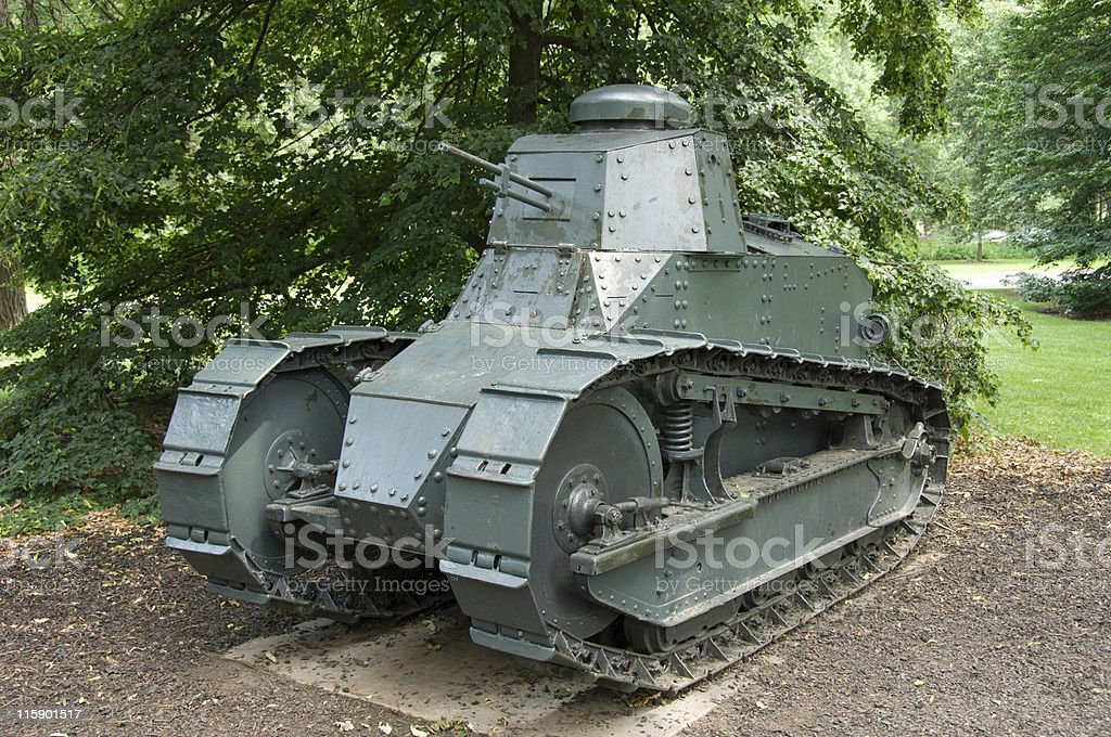 WWI Military Tank royalty-free stock photo