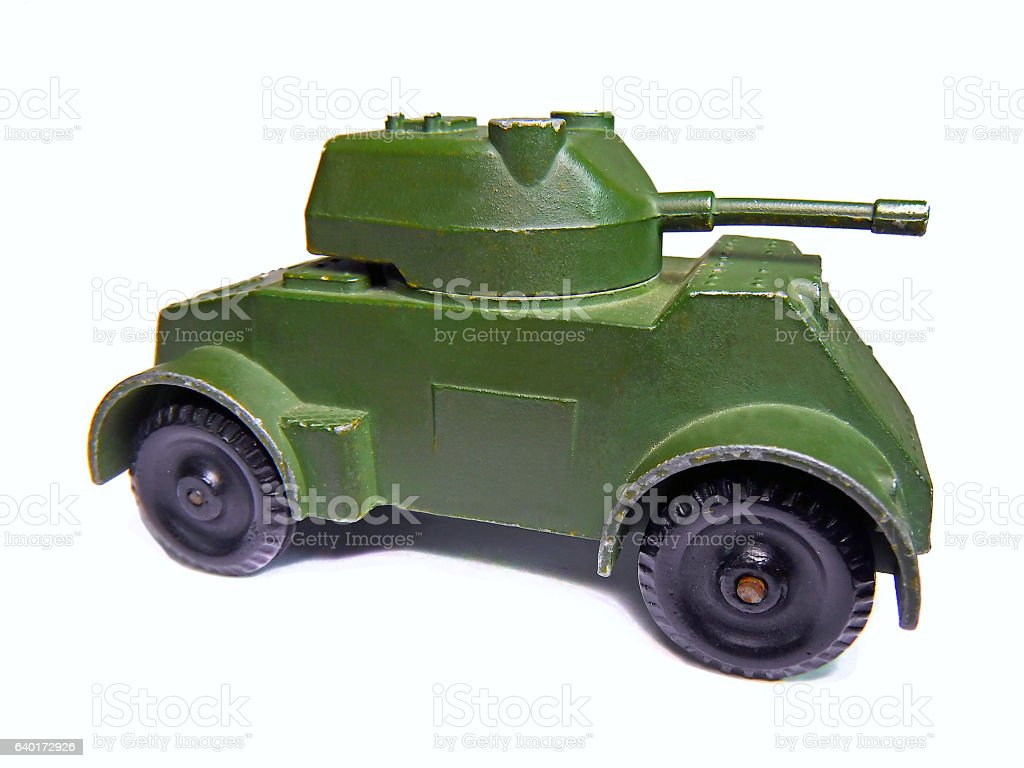 WW2 military tank toy stock photo